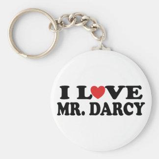 J'aime M. Darcy Porte-clé Rond