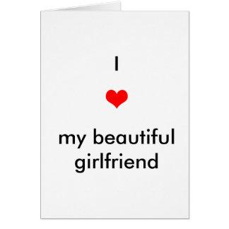 J'aime ma belle amie cartes