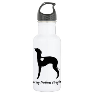 J'aime ma bouteille d'eau de lévrier italien