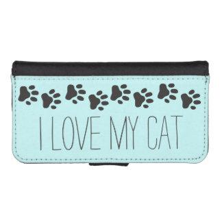 J'aime ma caisse de portefeuille de l'iPhone 5 de