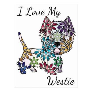 J'aime ma carte postale de Westie
