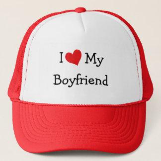 J'aime ma casquette de baseball d'ami