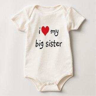 J'aime ma chemise de grande soeur barboteuses