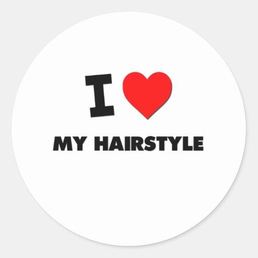 J'aime ma coiffure adhésif rond