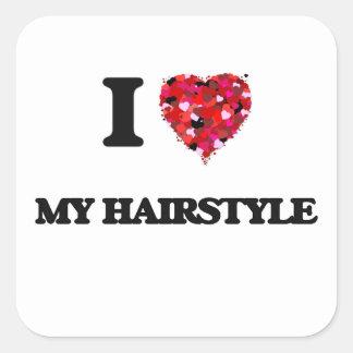 J'aime ma coiffure sticker carré