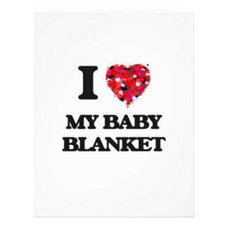 J'aime ma couverture de bébé prospectus 21,6 cm x 24,94 cm