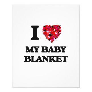 J'aime ma couverture de bébé prospectus 11,4 cm x 14,2 cm