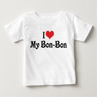 J'aime ma fève de fève t-shirt pour bébé