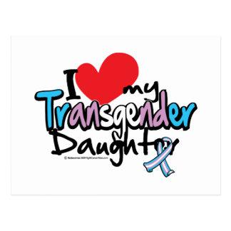 J'aime ma fille de transsexuel carte postale
