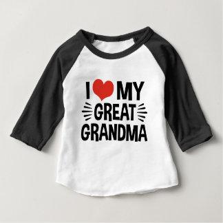 J'aime ma grande grand-maman t-shirt pour bébé