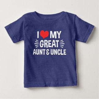 J'aime ma grands tante et oncle t-shirt pour bébé