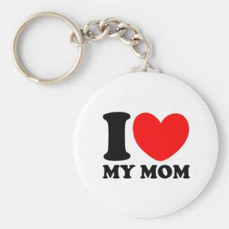 J'aime ma maman porte-clé rond