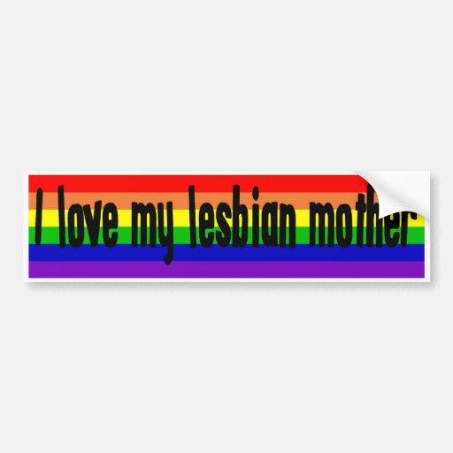 j 39 aime ma m re lesbienne autocollant de voiture zazzle. Black Bedroom Furniture Sets. Home Design Ideas