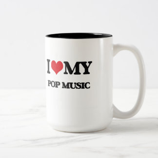 J'aime ma MUSIQUE POP Tasse À Café