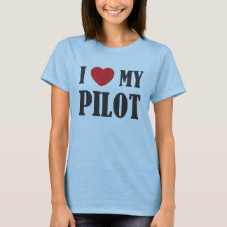J'aime ma pièce en t pilote t-shirt