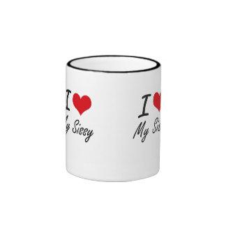 J'aime ma poule mouillée mug ringer