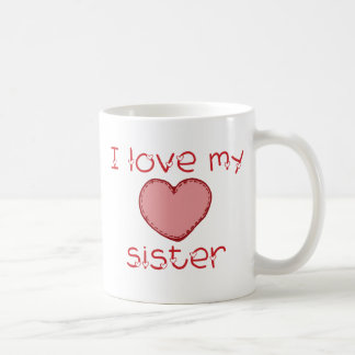J'aime ma soeur mug blanc