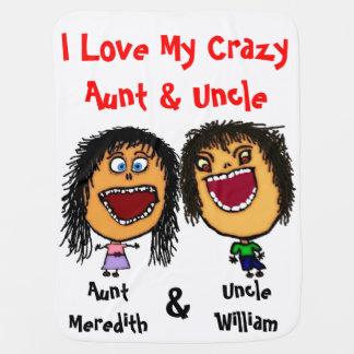J'aime ma tante et oncle fous Baby Blanket Couverture De Bébé