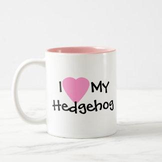 J'aime ma tasse de café de hérisson