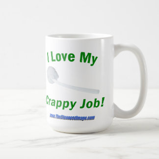 J'aime ma tasse de café misérable du travail