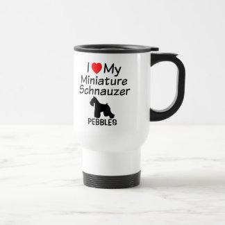 J'aime ma tasse de chien de Schnauzer miniature
