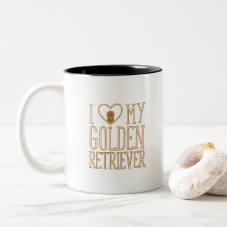 J'aime ma tasse de golden retriever