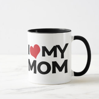 J'aime ma tasse de sonnerie du jour de mère de