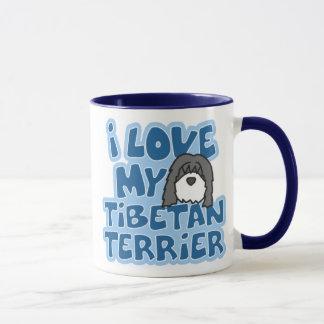 J'aime ma tasse de Terrier tibétain