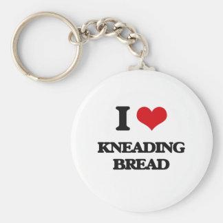 J'aime malaxer le pain porte-clefs