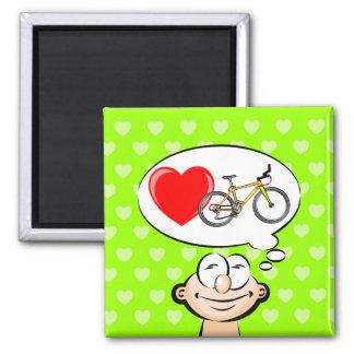 J'aime marcher en bicyclette aimant
