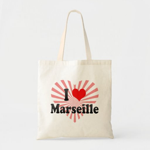 J'aime Marseille, France Sacs En Toile