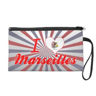 J'aime Marseille, l'Illinois Pochette Avec Dragonne
