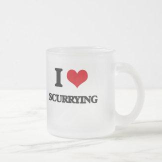 J'aime me précipiter mug en verre givré