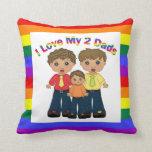 J'aime mes 2 papas - fils oreiller