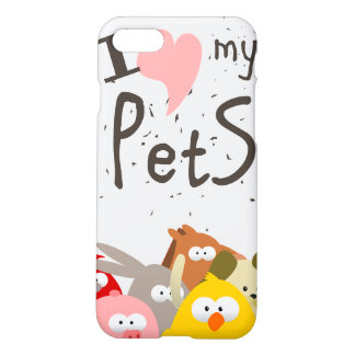 j'aime mes animaux familiers coque iPhone 8/7