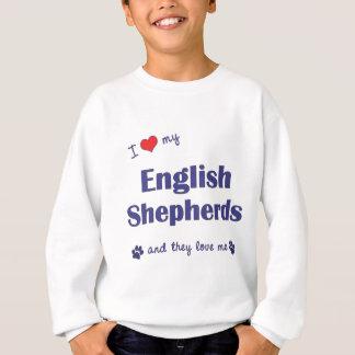 J'aime mes bergers anglais (les chiens multiples) sweatshirt