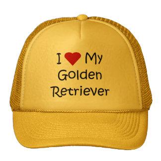 J'aime mes cadeaux d'amoureux des chiens de golden casquettes de camionneur