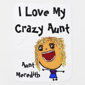 J'aime mes cheveux blonds fous de tante Baby Couvertures Pour Bébé