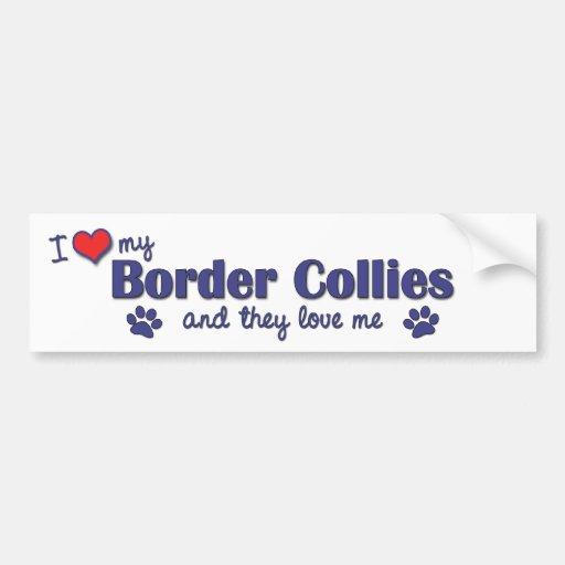 J'aime mes colleys de frontière (les chiens multip adhésif pour voiture