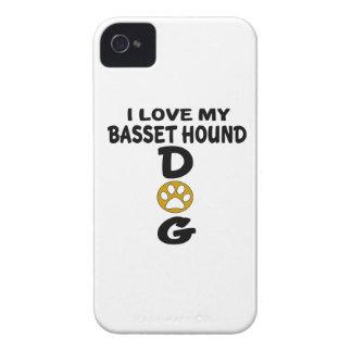 J'aime mes conceptions de chien de Basset Hound Coque iPhone 4