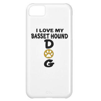 J'aime mes conceptions de chien de Basset Hound Coque iPhone 5C