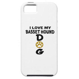 J'aime mes conceptions de chien de Basset Hound Coques iPhone 5