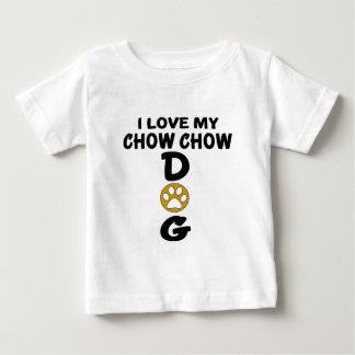 J'aime mes conceptions de chien de bouffe de t-shirt pour bébé