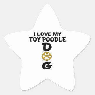 J'aime mes conceptions de chien de caniche de sticker étoile