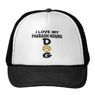 J'aime mes conceptions de chien de chasse de casquettes de camionneur