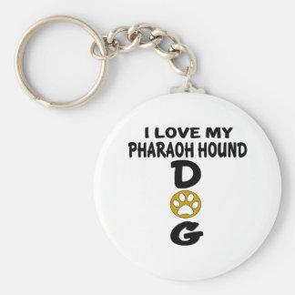 J'aime mes conceptions de chien de chasse de porte-clé rond
