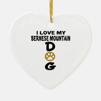 J'aime mes conceptions de chien de chien de ornement cœur en céramique