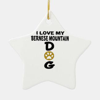 J'aime mes conceptions de chien de chien de ornement étoile en céramique