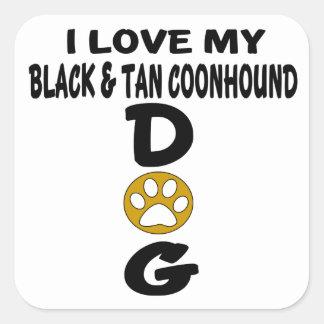 J'aime mes conceptions noires et bronzages de sticker carré