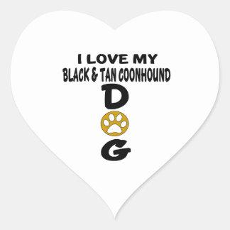 J'aime mes conceptions noires et bronzages de sticker cœur